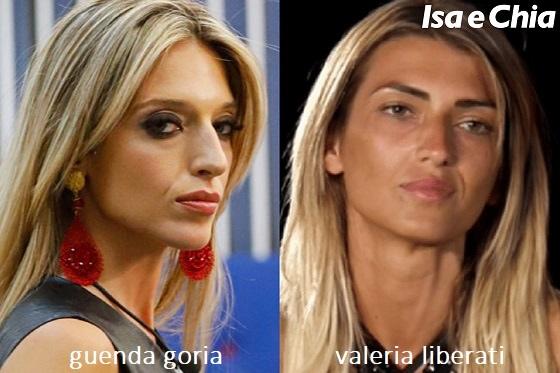 Somiglianza tra Guenda Goria e Valeria Liberati