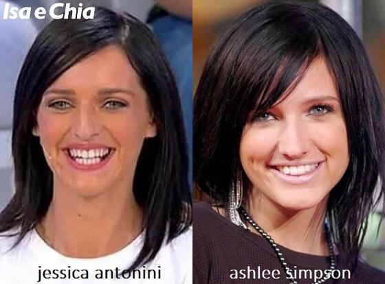 Somiglianza tra Jessica Antonini e Ashlee Simpson