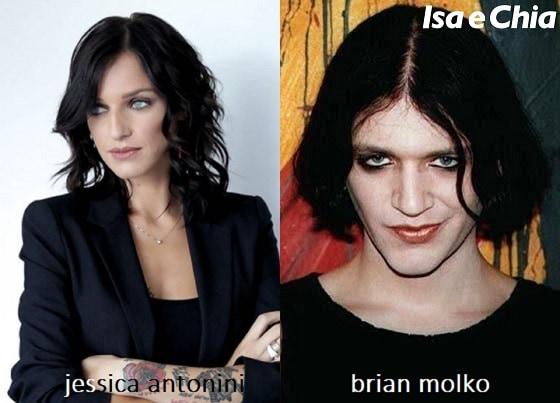 Somiglianza tra Jessica Antonini e Brian Molko