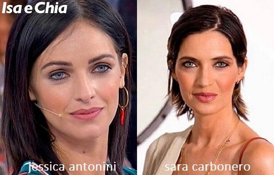 Somiglianza tra Jessica Antonini e Sara Carbonero