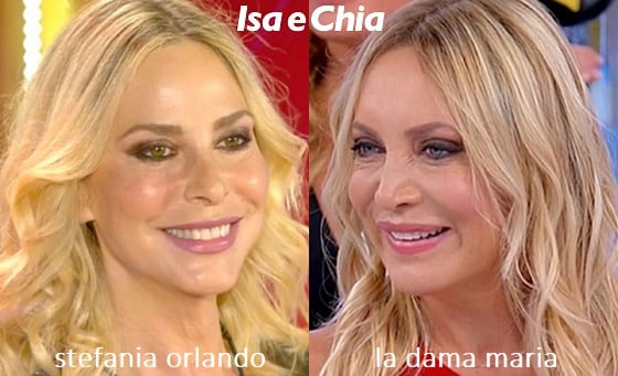 Somiglianza tra Maria, dama del Trono over di 'Uomini e Donne', e Stefania Orlando
