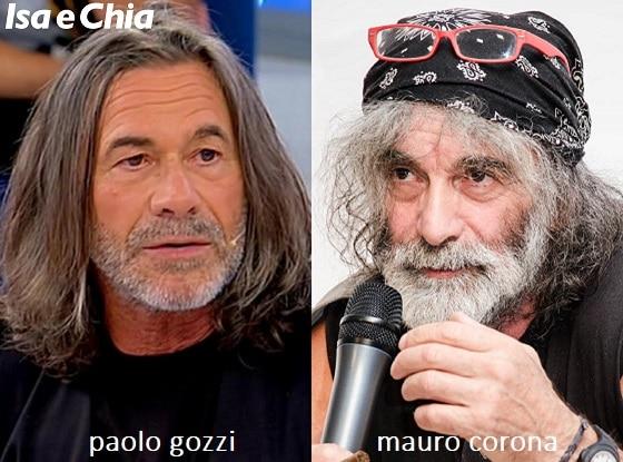 Somiglianza tra Paolo Gozzi, cavaliere del Trono over di 'Uomini e Donne', e Mauro Corona