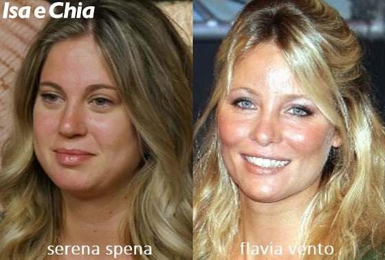 Somiglianza tra Serena Spena e Flavia Vento