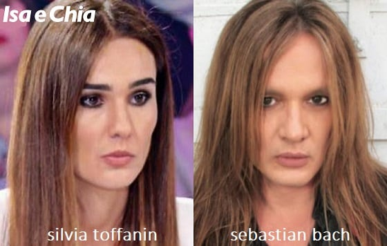 Somiglianza tra Silvia Toffanin e Sebastian Bach