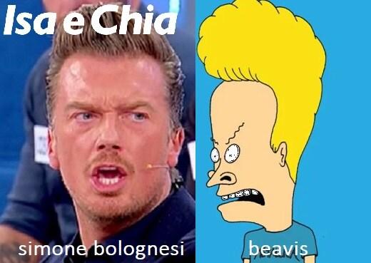 Somiglianza tra Simone Bolognesi e Beavis