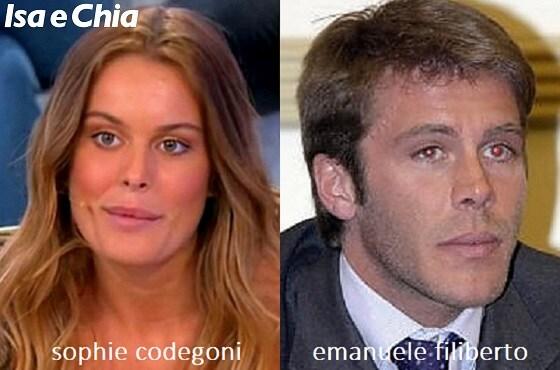 Somiglianza tra Sophie Codegoni e Emanuele Filiberto di Savoia