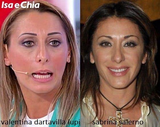Somiglianza tra Valentina Dartavilla Lupi, dama del Trono over di 'Uomini e Donne', e Sabrina Salerno