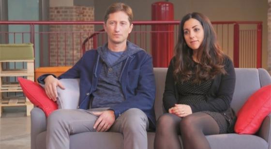 Steven Hutchinson e Sara Giacomini
