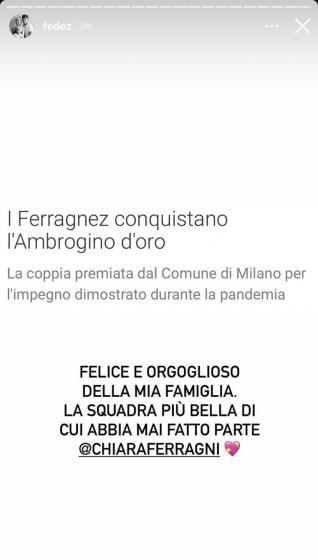 Instagram Story Fedez
