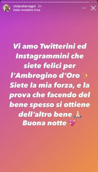 Instagram Story Ferragni