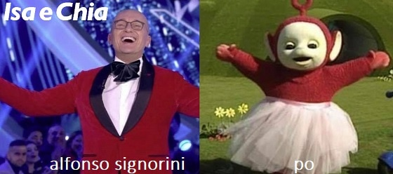 Somiglianza tra Alfonso Signorini e Po