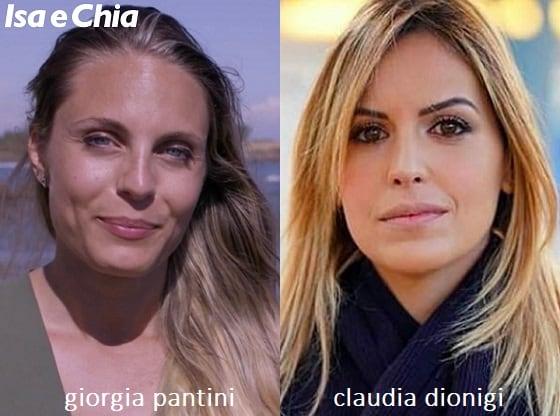 Somiglianza tra Claudia Dionigi e Giorgia Pantini di 'Matrimonio a Prima Vista'