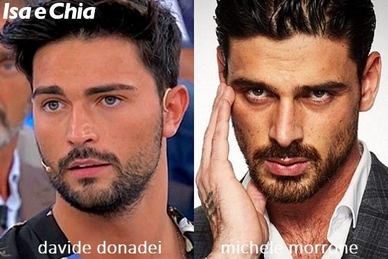 Somiglianza tra Davide Donadei e Michele Morrone