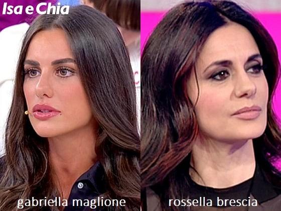 Somiglianza tra Gabriella Maglione e Rossella Brescia