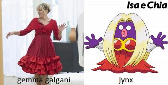 Somiglianza tra Gemma Galgani e Jynx