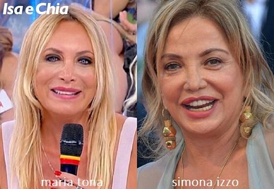 Somiglianza tra Maria Tona, dama del Trono over di 'Uomini e Donne', e Simona Izzo