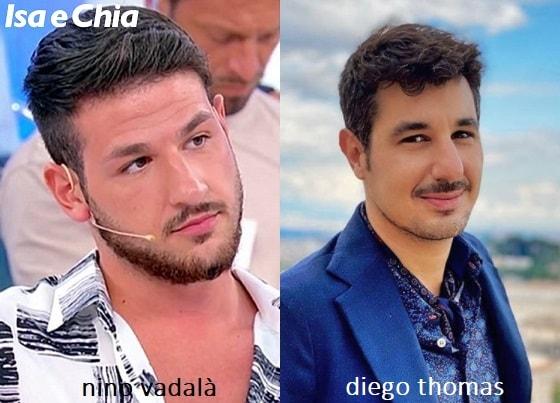 Somiglianza tra Nino Vadalà e Diego Thomas di 'Cortesie per gli ospiti'