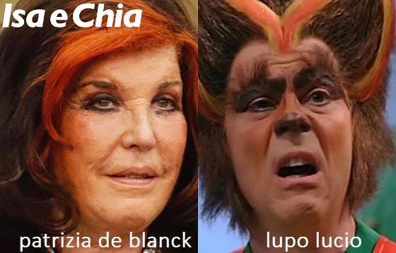 Somiglianza tra Patrizia De Blanck e Lupo Lucio