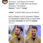 Twitter - Andrea Zenga - Dayane Mello