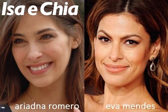 Somiglianza tra Ariadna Romero e Eva Mendes