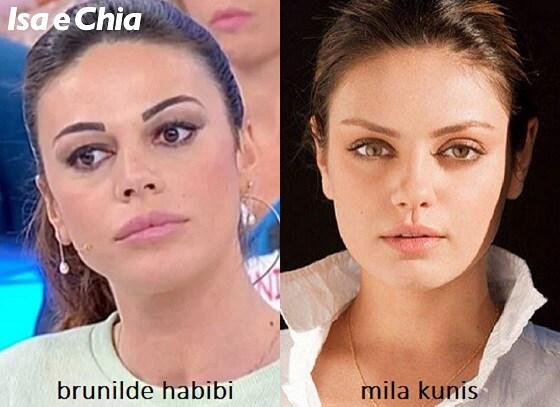 Somiglianza tra Brunilde Habibi, dama del Trono over di 'Uomini e Donne', e Mila Kunis