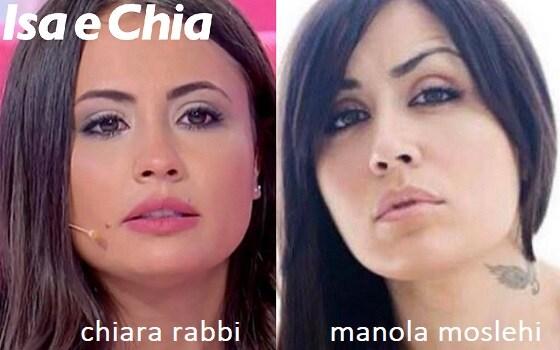 Somiglianza tra Chiara Rabbi e Manola Moslehi