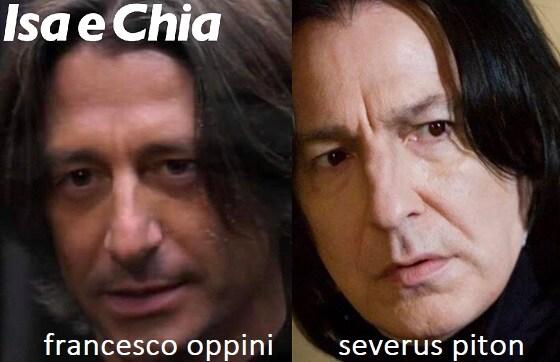 Somiglianza tra Francesco Oppini e Severus Piton