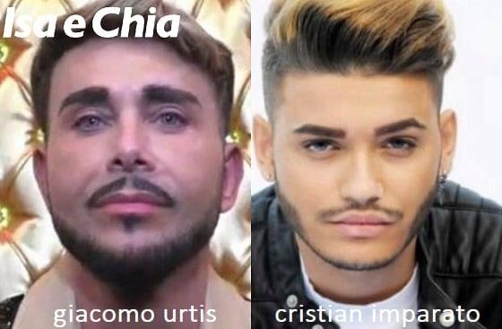 Somiglianza tra Giacomo Urtis e Cristian Imparato