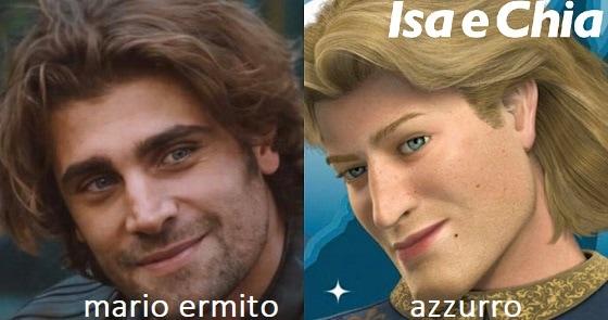 Somiglianza tra Mario Ermito e Azzurro