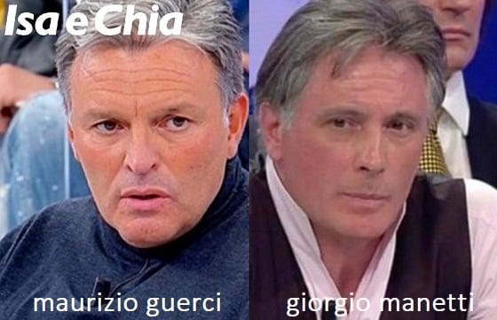Somiglianza tra Maurizio Guerci e Giorgio Manetti