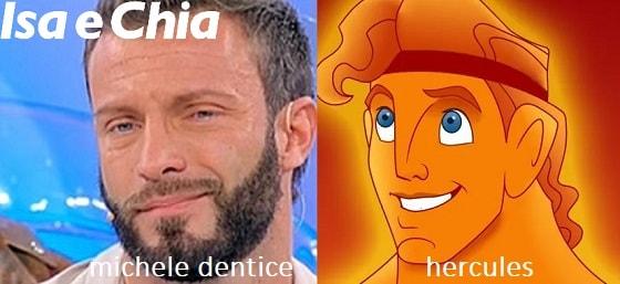Somiglianza tra Michele Dentice e Hercules