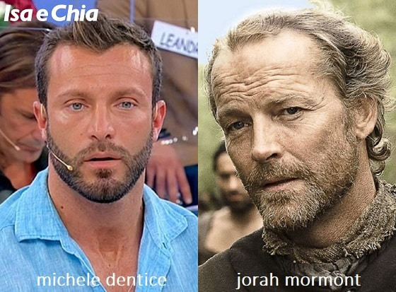 Somiglianza tra Michele Dentice e Jorah Mormont di 'Game of Thrones'