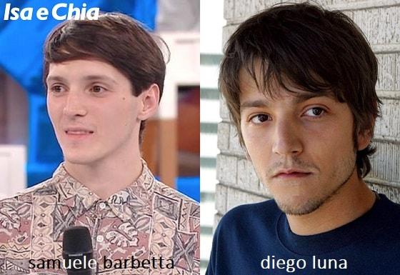Somiglianza tra Samuele Barbetta e Diego Luna