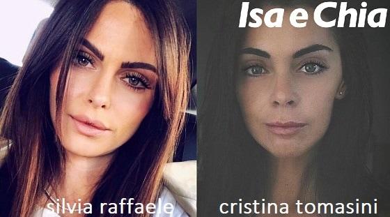 Somiglianza tra Silvia Raffaele e Cristina Tomasini