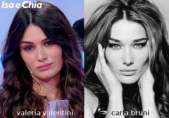 Somiglianza tra Valeria Valentini e Carla Bruni