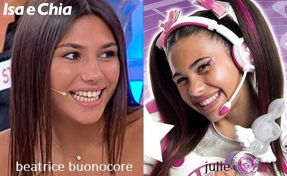 Somiglianza tra Beatrice Buonocore e Julie delle 'Miracle Tunes'