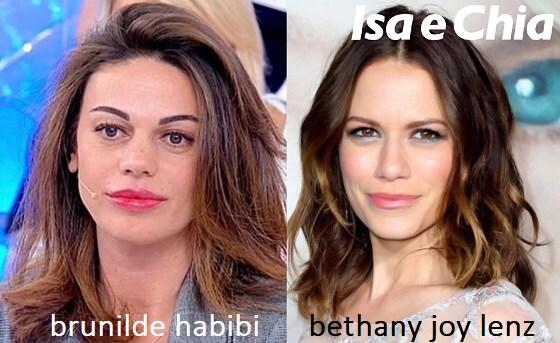 Somiglianza tra Brunilde Habibi e Bethany Joy Lenz