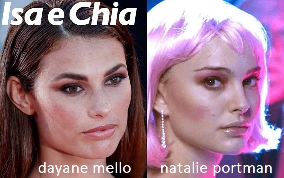 Somiglianza tra Dayane Mello e Natalie Portman