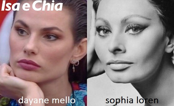 Somiglianza tra Dayane Mello e Sophia Loren