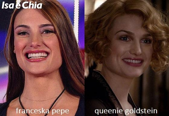 Somiglianza tra Franceska Pepe e Queenie Goldstein