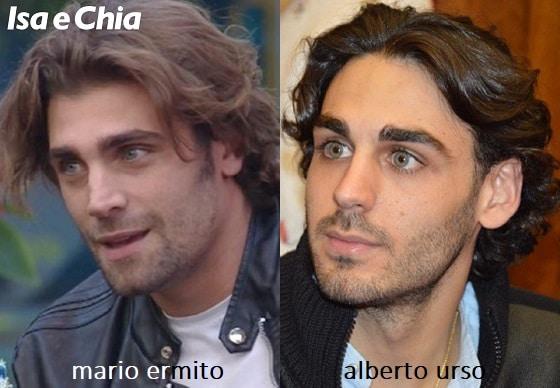 Somiglianza tra Mario Ermito e Alberto Urso