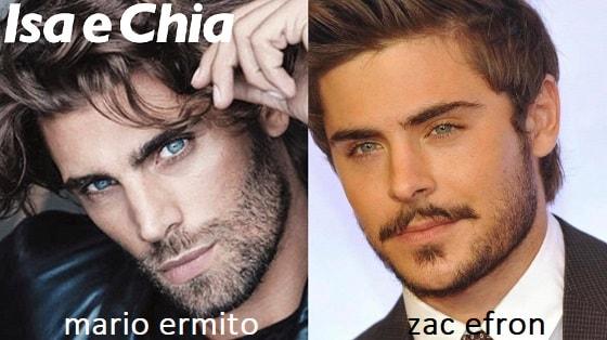 Somiglianza tra Mario Ermito e Zac Efron
