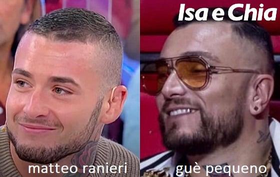 Somiglianza tra Matteo Ranieri e Guè Pequeno