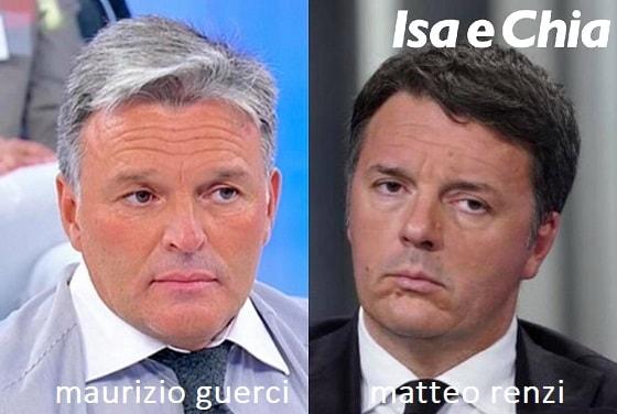 Somiglianza tra Maurizio Guerci e Matteo Renzi