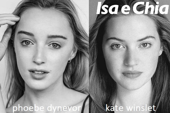 Somiglianza tra Phoebe Dynevor e Kate Winslet