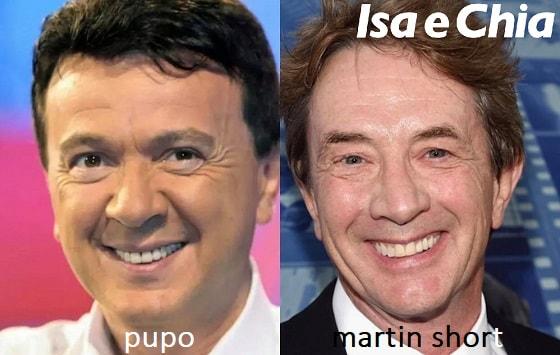Somiglianza tra Pupo e Martin Short