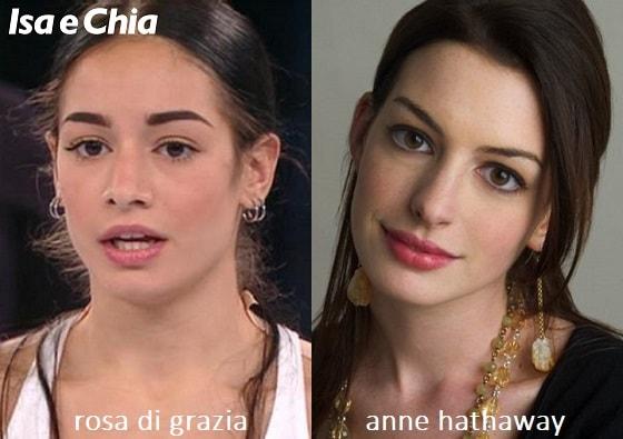 Somiglianza tra Rosa Di Grazia di 'Amici 20' e Anne Hathaway