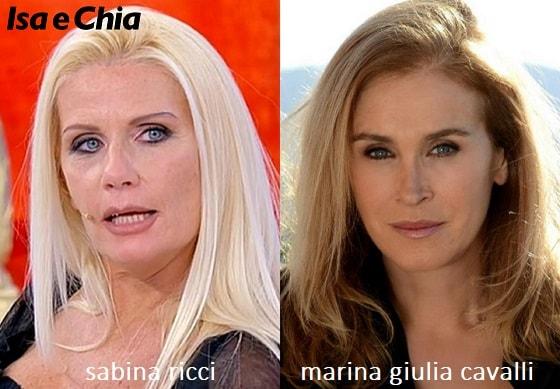 Somiglianza tra Sabina Ricci e Marina Giulia Cavalli di 'Un posto al sole'