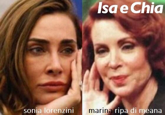 Somiglianza tra Sonia Lorenzini e Marina Ripa di Meana