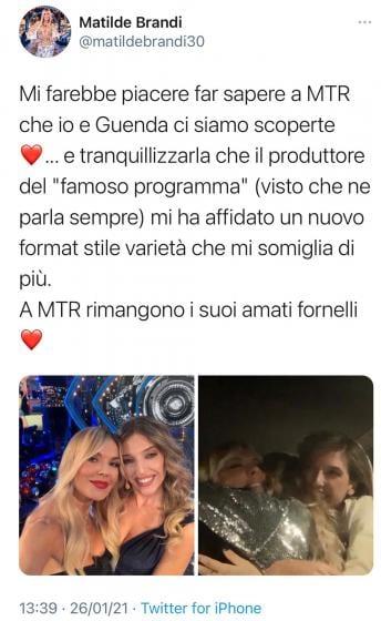 'Gf Vip 5', Matilde Brandi lancia una bordata a Maria Teresa Ruta: il sarcastico tweet della showgirl